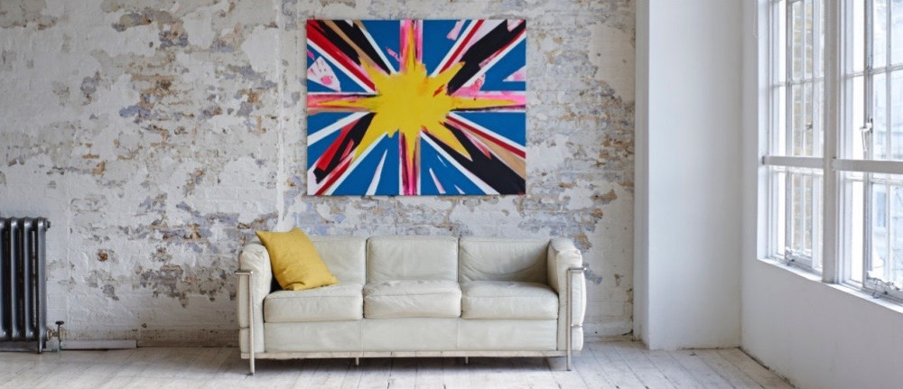 Union Jack, Union Flag, British Flag, Manifestation, Art, Paintings, Adam Tallamy, Law of Attraction, Emotion, Intention, Art, Acrylic